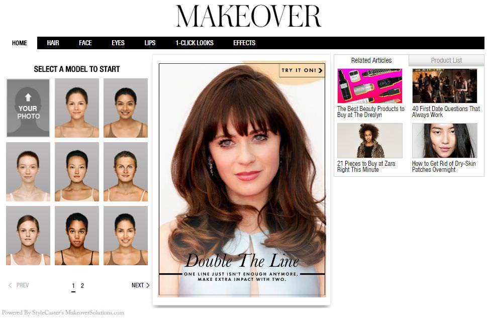 Программа для подбора причёсок и цвета волос онлайн