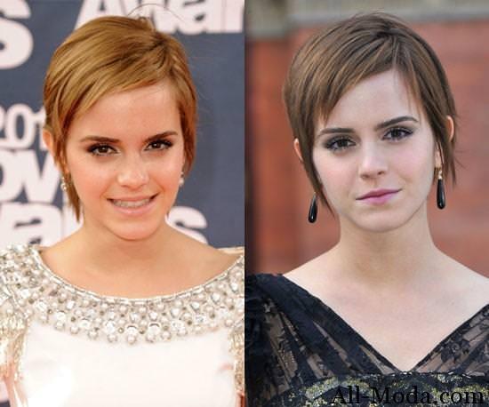 цвет волос знаменитостей Emma-Watson