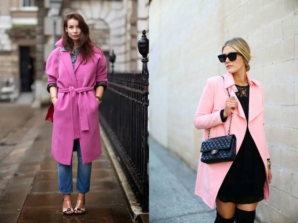 С чем и как носить красное пальто