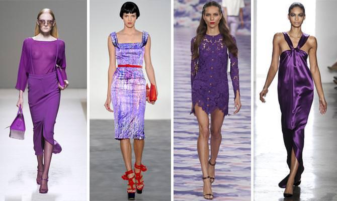 Дизайнерские платья сезона весна-лето 2014 в цвете насыщенная орхидея