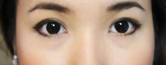 как изменить форму глаз с помощью стрелок