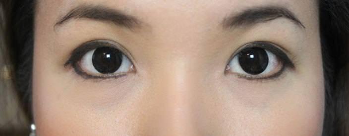 изменить форму глаз с помощью стрелок
