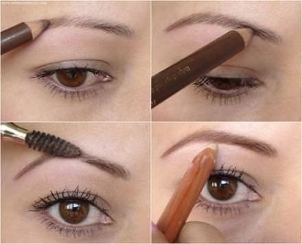 как покрасить брови правильно