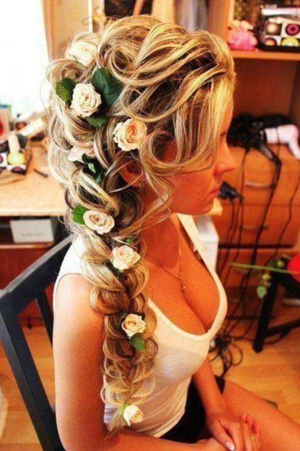 Из косы свадебные прически