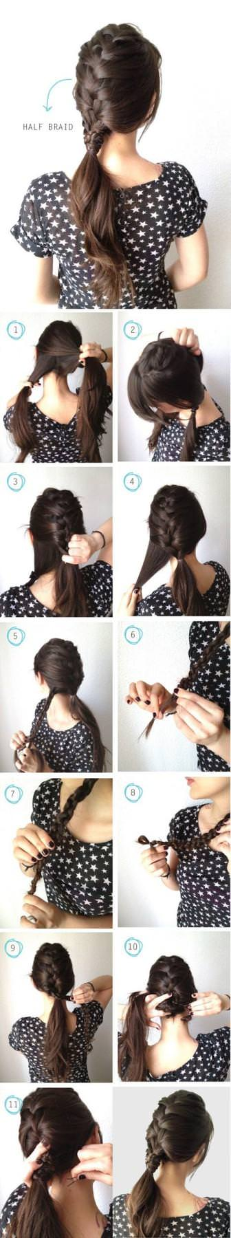 How-to-make-half-braid-for-your-hair