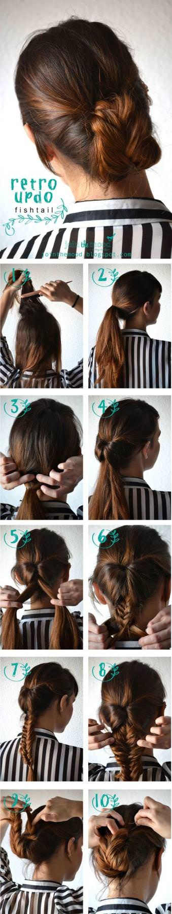 Retro-Updo-Fishtail