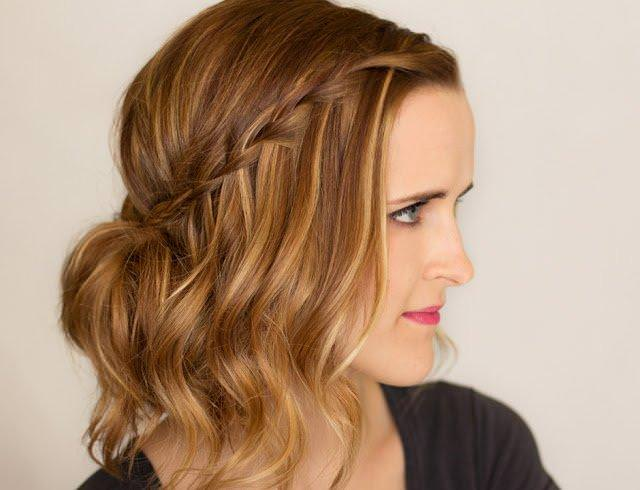 Waterfall-Braid-Updo