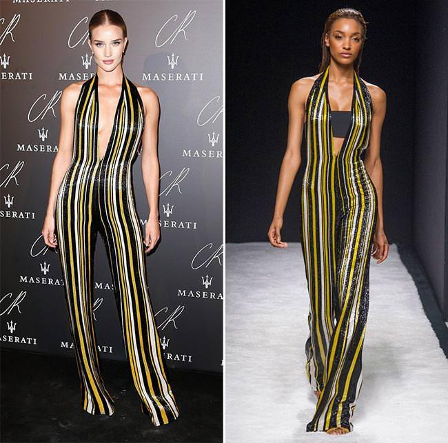 celebrities_wearing_spring_2015_runway_clothes_Rosie_Huntington_Whiteley_in_Balmain