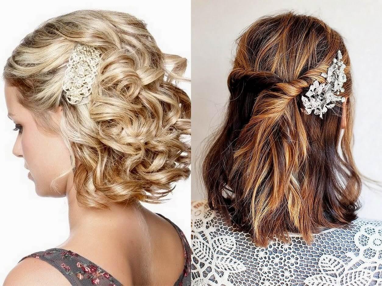 Праздничные красивые прически на средние волосы