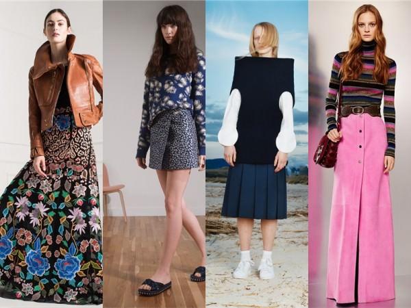 Длинные юбки на осень 2016