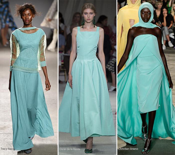 Спектр цветов платьев