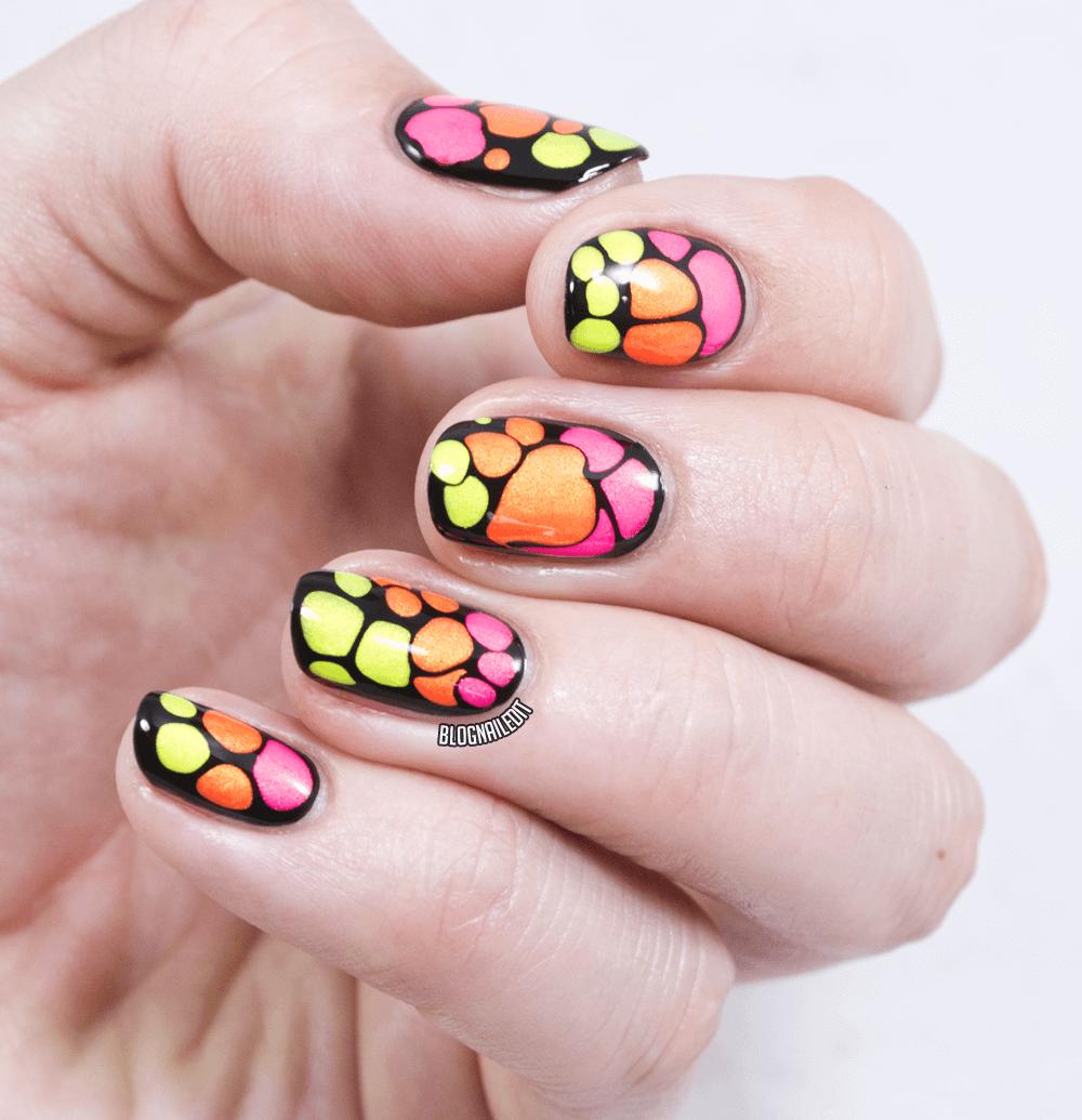 Color Club Poptastic nail art