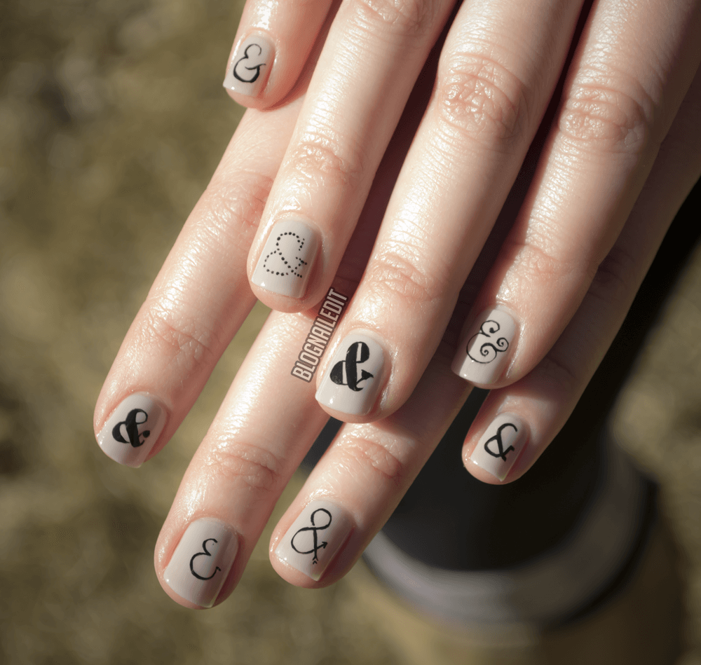 ampersand nails 1
