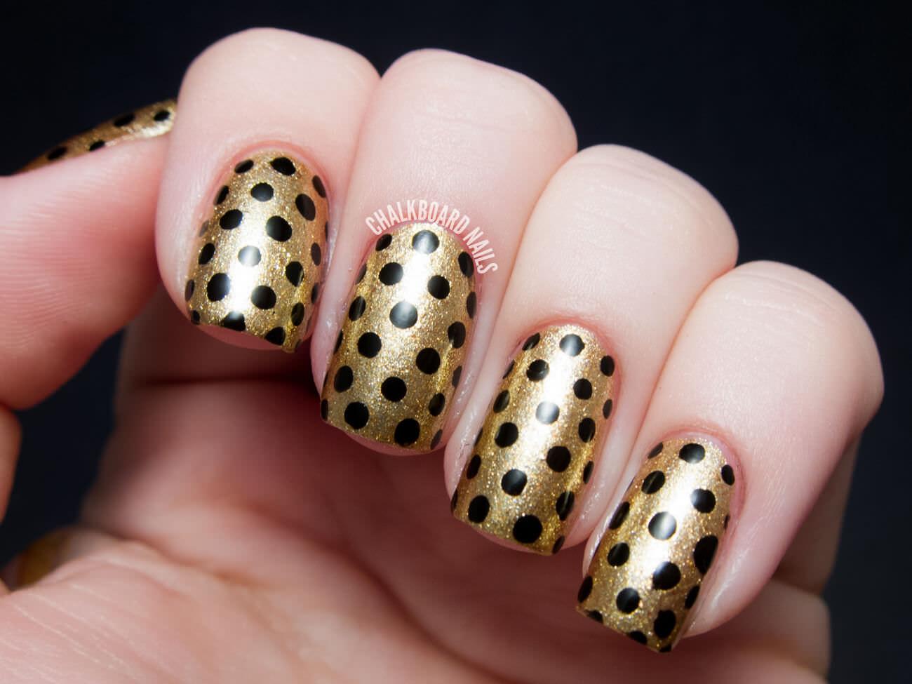 gold-black-polka-dots-1