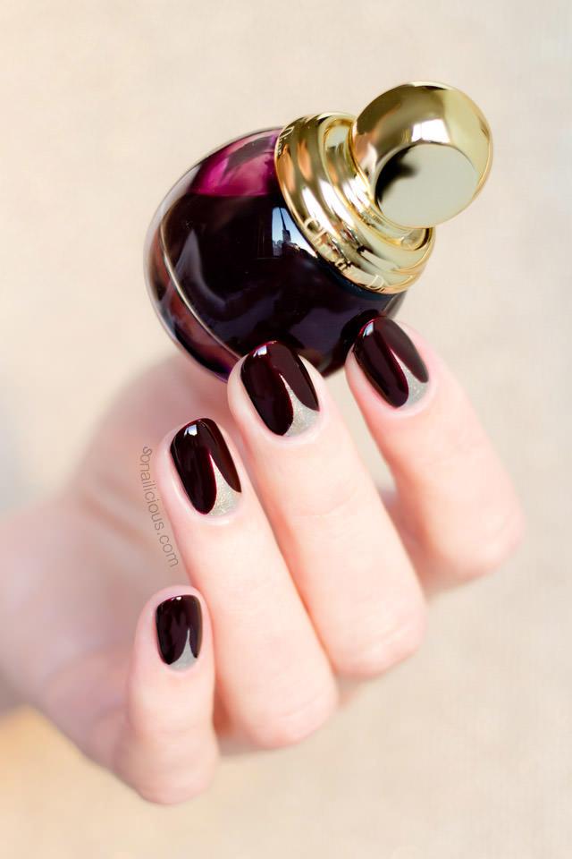 short-nails-red-and-gold-nails-1
